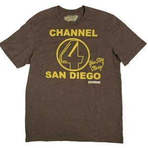Old Navy T-Shirt Ron Burgundy Channel 4 S/S Cotton